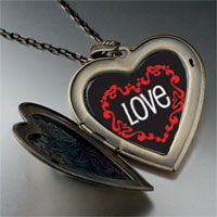 Necklace & Pendants - love in heart large heart locket pendant necklace Image.