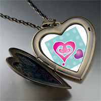 Necklace & Pendants - painted hearts large heart locket pendant necklace Image.