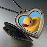 Necklace & Pendants - yellow rubber duck large heart locket pendant necklace Image.