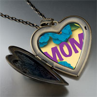 Necklace & Pendants - flower mom large heart locket pendant necklace Image.