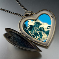 Necklace & Pendants - giraffe tongue large heart locket pendant necklace Image.