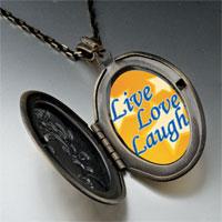 Necklace & Pendants - live love laugh photo photo locket pendant necklace Image.