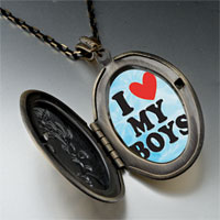 Necklace & Pendants - i heart boys photo photo locket pendant necklace Image.