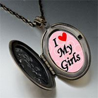 Necklace & Pendants - i heart girls photo photo locket pendant necklace Image.