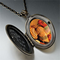 Necklace & Pendants - november topaz color turkey photo locket pendant necklace Image.