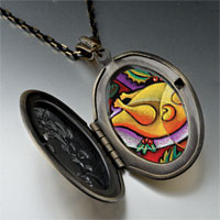 Necklace & Pendants - modern art turkey dinner photo locket pendant necklace Image.