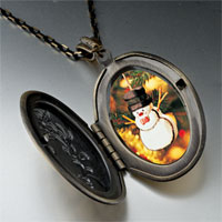 Necklace & Pendants - pendants christmas gifts snowman ornament photo locket pendant necklace Image.