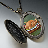 Necklace & Pendants - thanksgiving food photo locket pendant necklace Image.