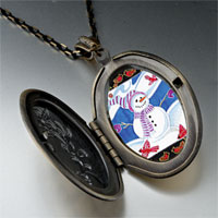 Necklace & Pendants - pendants festive christmas gifts snowman photo photo locket pendant necklace Image.