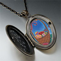 Necklace & Pendants - easter basket photo locket pendant necklace Image.