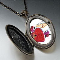 Necklace & Pendants - valentines photo locket pendant necklace Image.