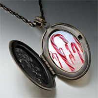 Necklace & Pendants - halloween candy cane land photo locket pendant necklace Image.