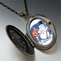Necklace & Pendants - pendants building a christmas gifts snowman photo locket pendant necklace Image.