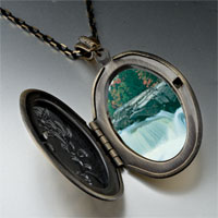 Necklace & Pendants - waterfall paradise photo locket pendant necklace Image.