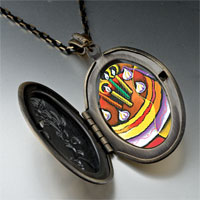 Necklace & Pendants - cubist birthday cake photo locket pendant necklace Image.