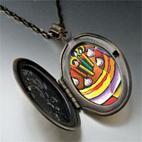 Necklace & Pendants - cubist birthday cake photo locket pendant necklace Image.