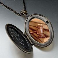 Necklace & Pendants - law gavel photo locket pendant necklace Image.