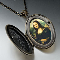 Necklace & Pendants - da vinci' s art mona lisa photo locket pendant necklace Image.