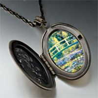 Necklace & Pendants - bridge at giverny photo locket pendant necklace Image.