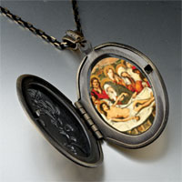 Necklace & Pendants - entombment christ photo locket pendant necklace Image.