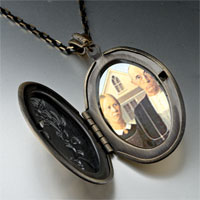 Necklace & Pendants - american gothic photo locket pendant necklace Image.