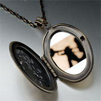 Necklace & Pendants - trumpet music silhouette photo locket pendant necklace Image.