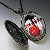 Necklace & Pendants - bowling pins photo locket pendant necklace Image.