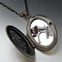 Necklace & Pendants - silver trumpet photo locket pendant necklace Image.