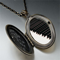 Necklace & Pendants - classic piano keys photo locket pendant necklace Image.
