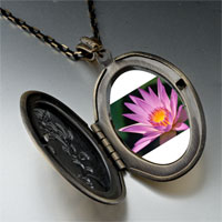 Necklace & Pendants - yellow pink flower photo locket pendant necklace Image.