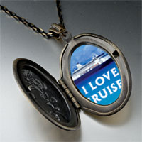 Necklace & Pendants - i love cruises photo locket pendant necklace Image.