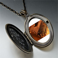 Necklace & Pendants - book writer' s typewriter photo locket pendant necklace Image.