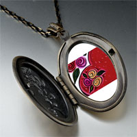 Necklace & Pendants - heart flowers photo locket pendant necklace Image.