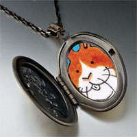Necklace & Pendants - smiling bunny rabbit photo locket pendant necklace Image.