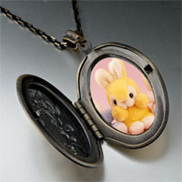Necklace & Pendants - stuffed bunny rabbits photo locket pendant necklace Image.
