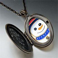 Necklace & Pendants - pendants christmas gifts snowman halloween candy cane photo locket pendant necklace Image.