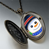 Necklace & Pendants - pendants halloween candy cane christmas gifts snowman photo locket pendant necklace Image.