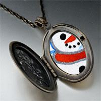 Necklace & Pendants - pendants sunset christmas gifts snowman photo locket pendant necklace Image.