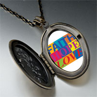 Necklace & Pendants - faith hope love photo photo locket pendant necklace Image.