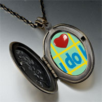 Necklace & Pendants - i heart sudoku photo locket pendant necklace Image.