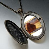 Necklace & Pendants - monet wheatstack photo locket pendant necklace Image.