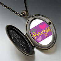 Necklace & Pendants - princess hearts flowers photo locket pendant necklace Image.