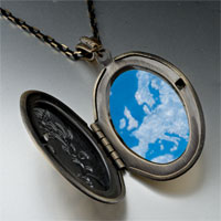 Necklace & Pendants - blue sky clouds photo locket pendant necklace Image.