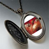Necklace & Pendants - christmas ornament glitter balls photo locket pendant necklace Image.