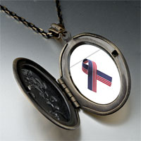 Necklace & Pendants - usa flag ribbon pendant necklace Image.