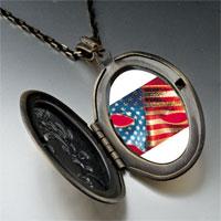Necklace & Pendants - usa flag mask pendant necklace Image.