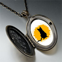 Necklace & Pendants - black cat silhouette pendant necklace Image.