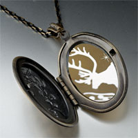 Necklace & Pendants - christmas rudolph reindeer snow pendant necklace Image.
