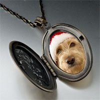 Necklace & Pendants - golden retriever santa pendant necklace Image.