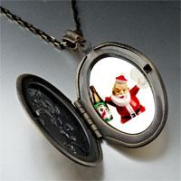Necklace & Pendants - champagne santa pendant necklace Image.